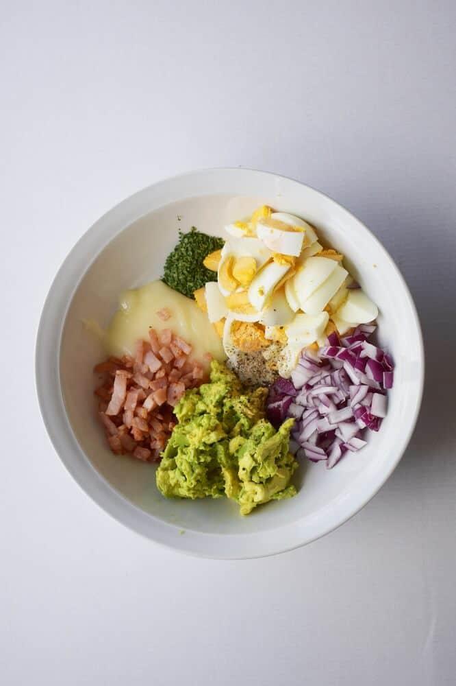 keto avocado egg salad ingredients