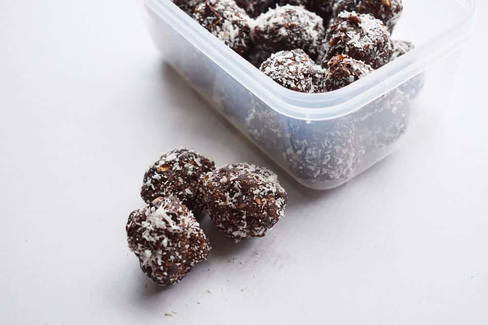 coconut cacao protein balls