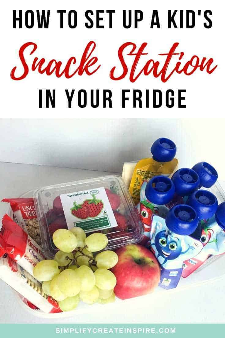 Fridge snack station ideas for kids