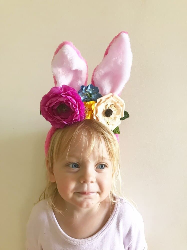 Diy floral easter headband bunny ears tutorial