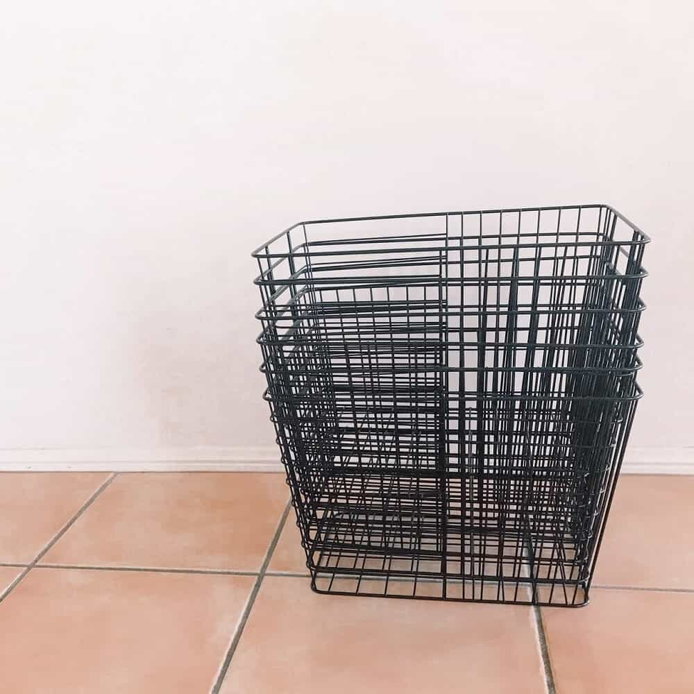 Baskets for storage and linen organising
