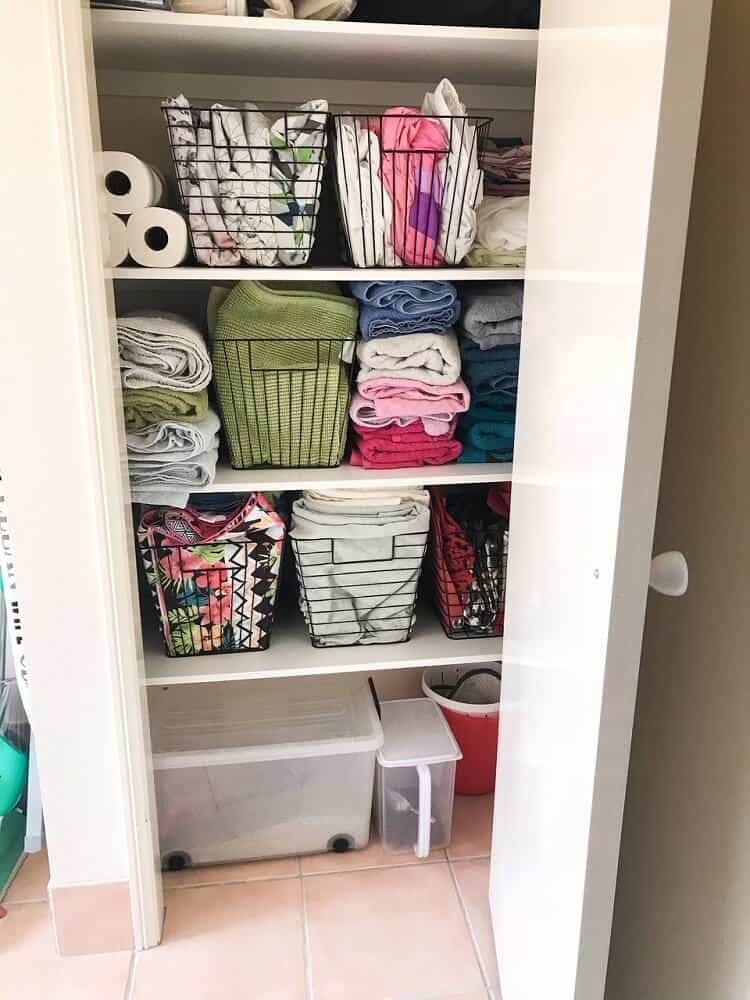 Linen cupboard organisation ideas