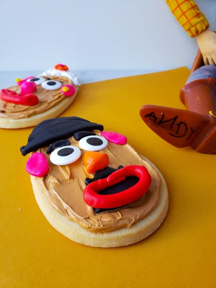 Mr & Mrs Potatohead cookies