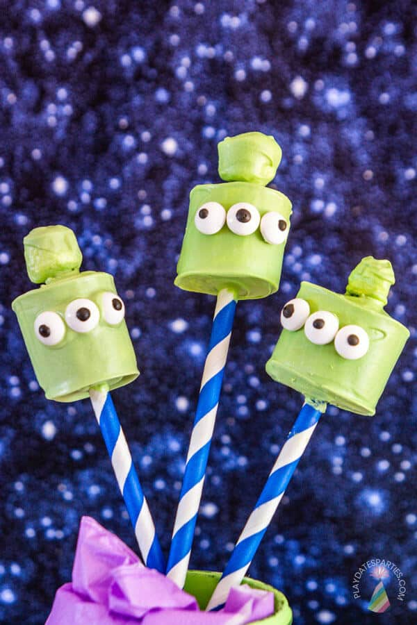 Toy story birthday party food marshmallow pops