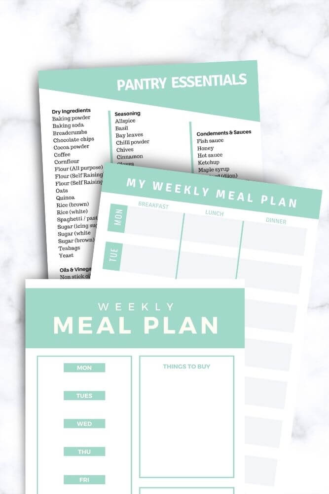 Meal planning kitchen bundle