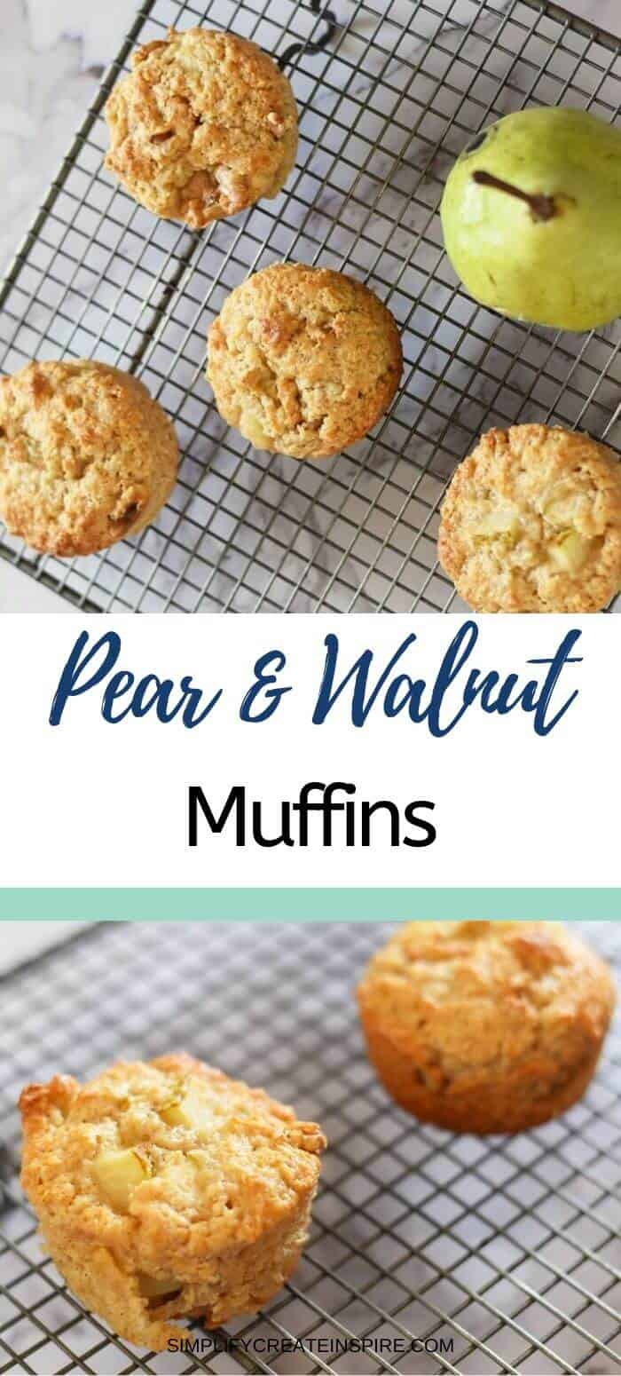 Walnut pear muffins 2
