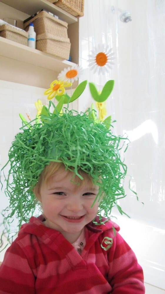 Spring grass easter hat ideas