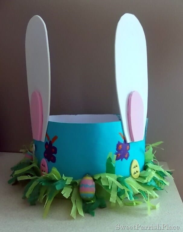 Cardboard easter hat with ears