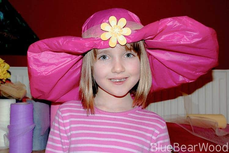 tissue paper easter parade hat