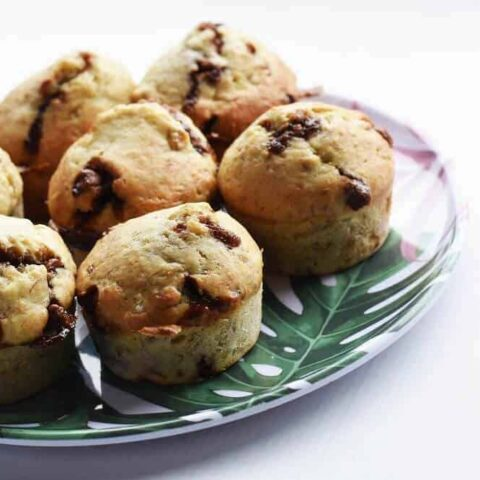 Bananas Muffins With Chocolate Chips