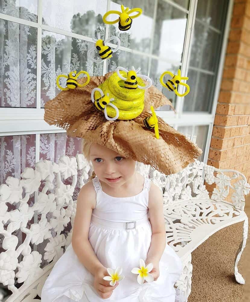 Bee hive easter bonnet