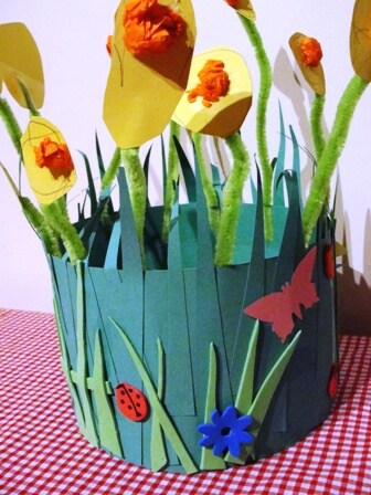 Spring easter bonnet made from paper