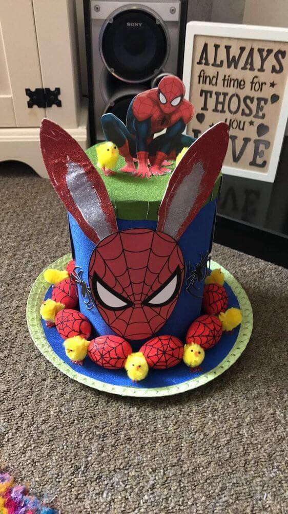 Spiderman easter bonnet