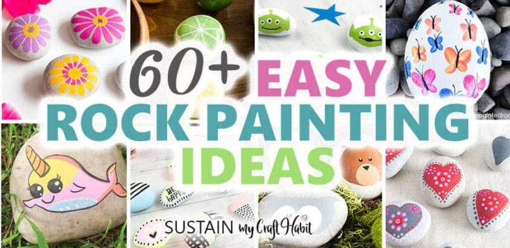 60 rock painting ideas tutorials easy