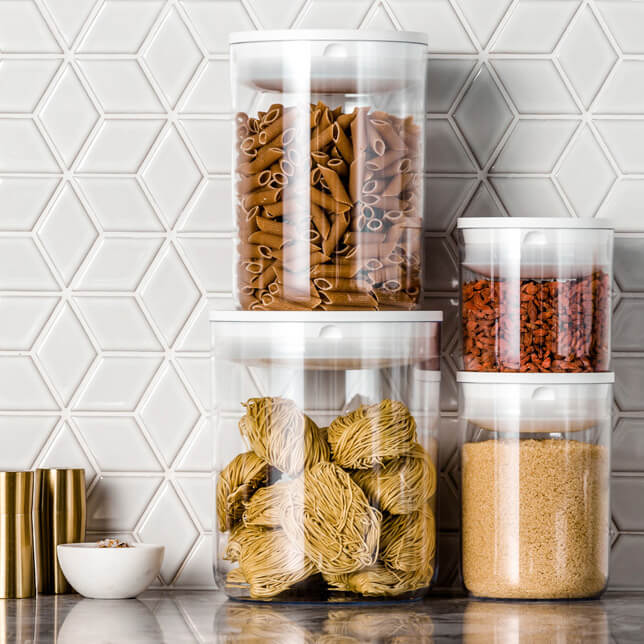 Clickclack pantry containers