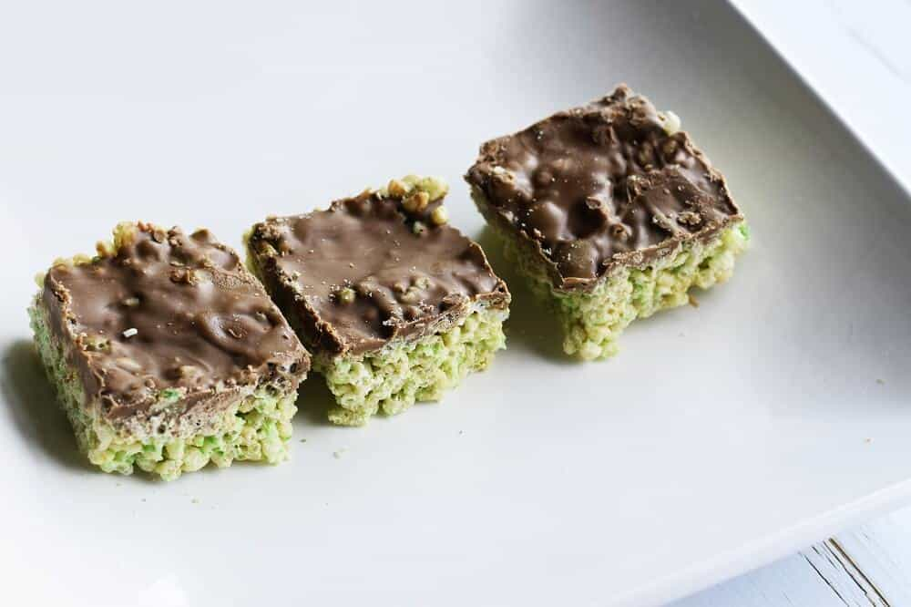No bake mint aero slice