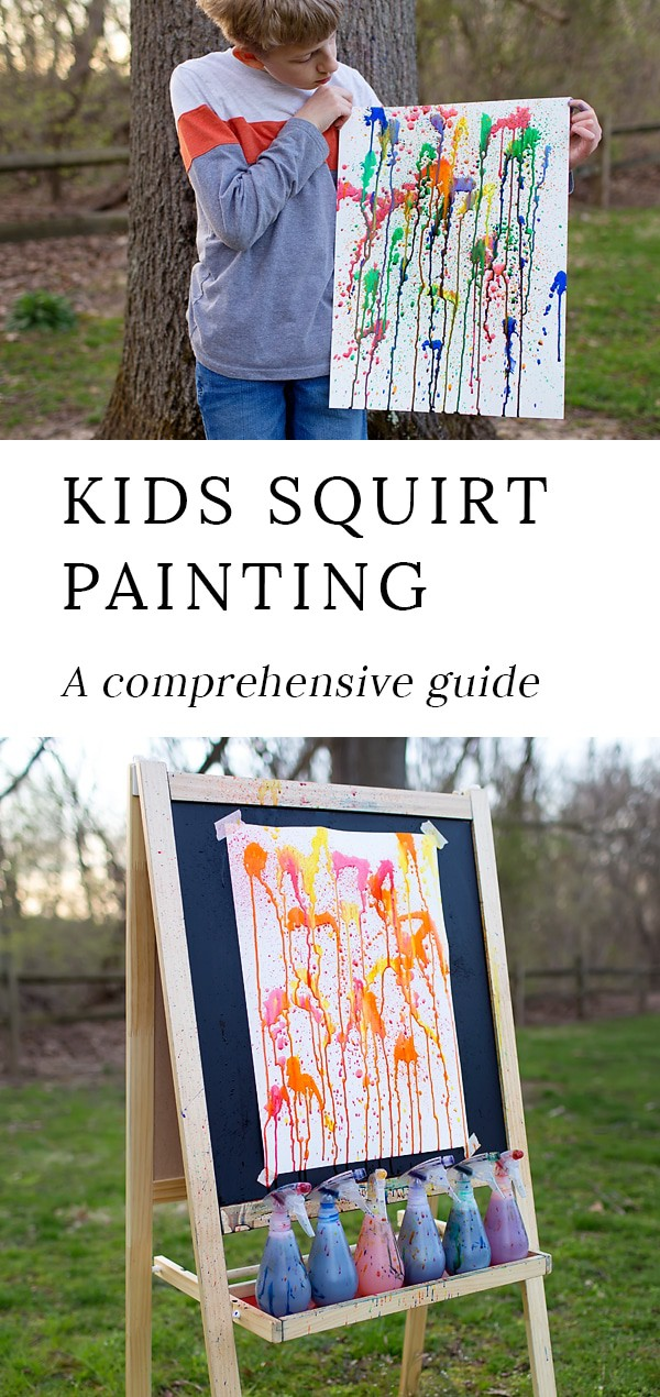 Kids squirt painting