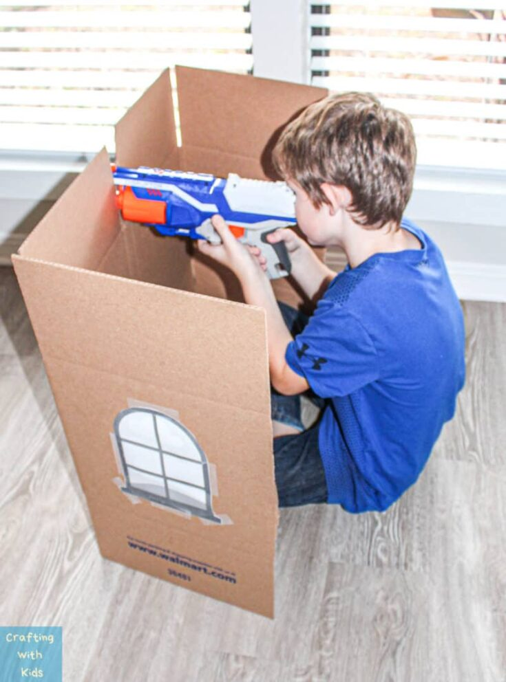 Nerf gun games with nerf targets from household items 1 e1571346055927