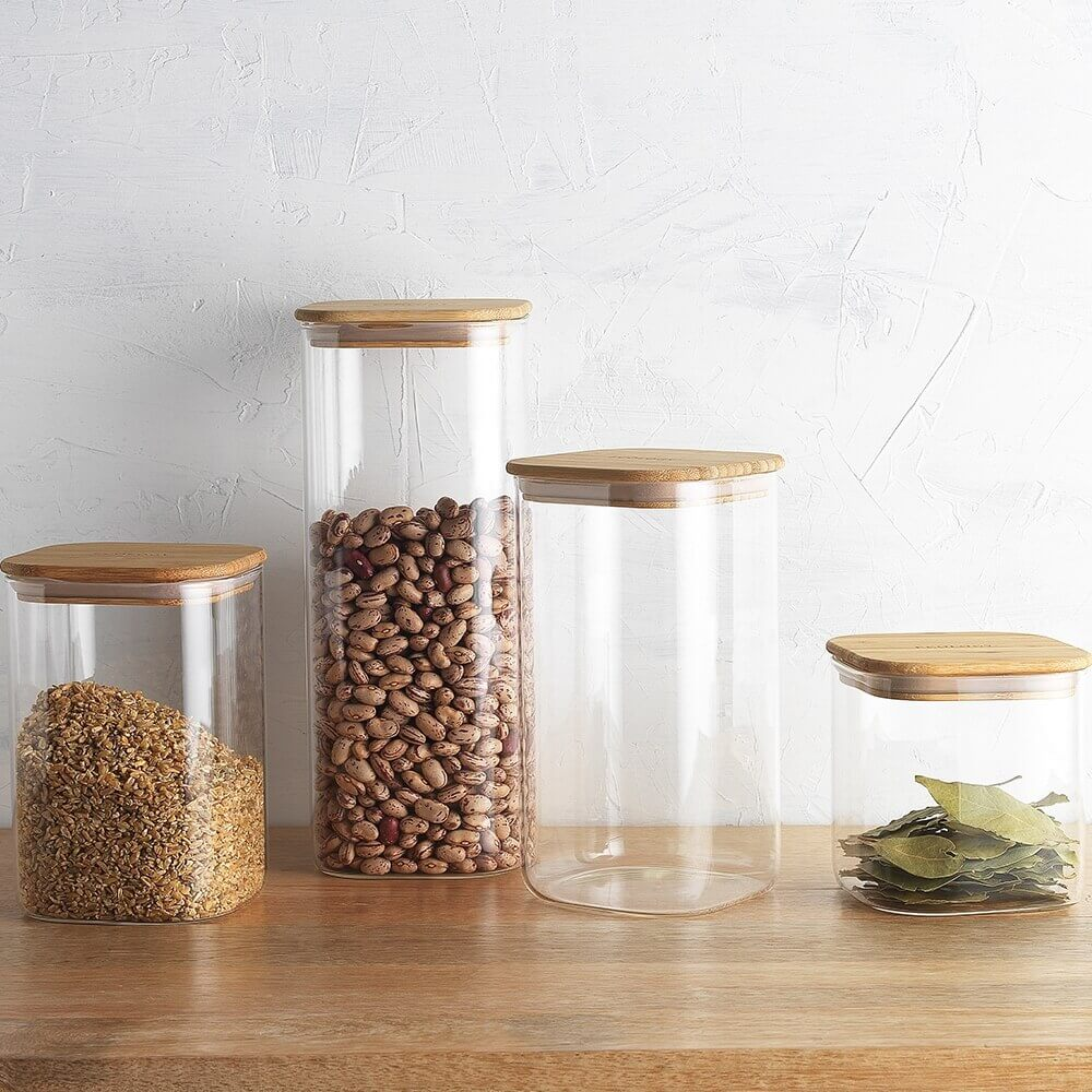 Glass pantry canisters