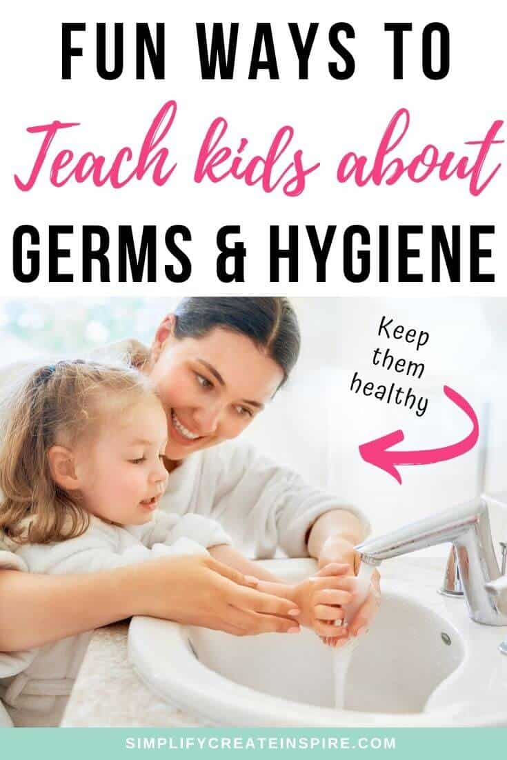 Teaching kids about germs and hand washing