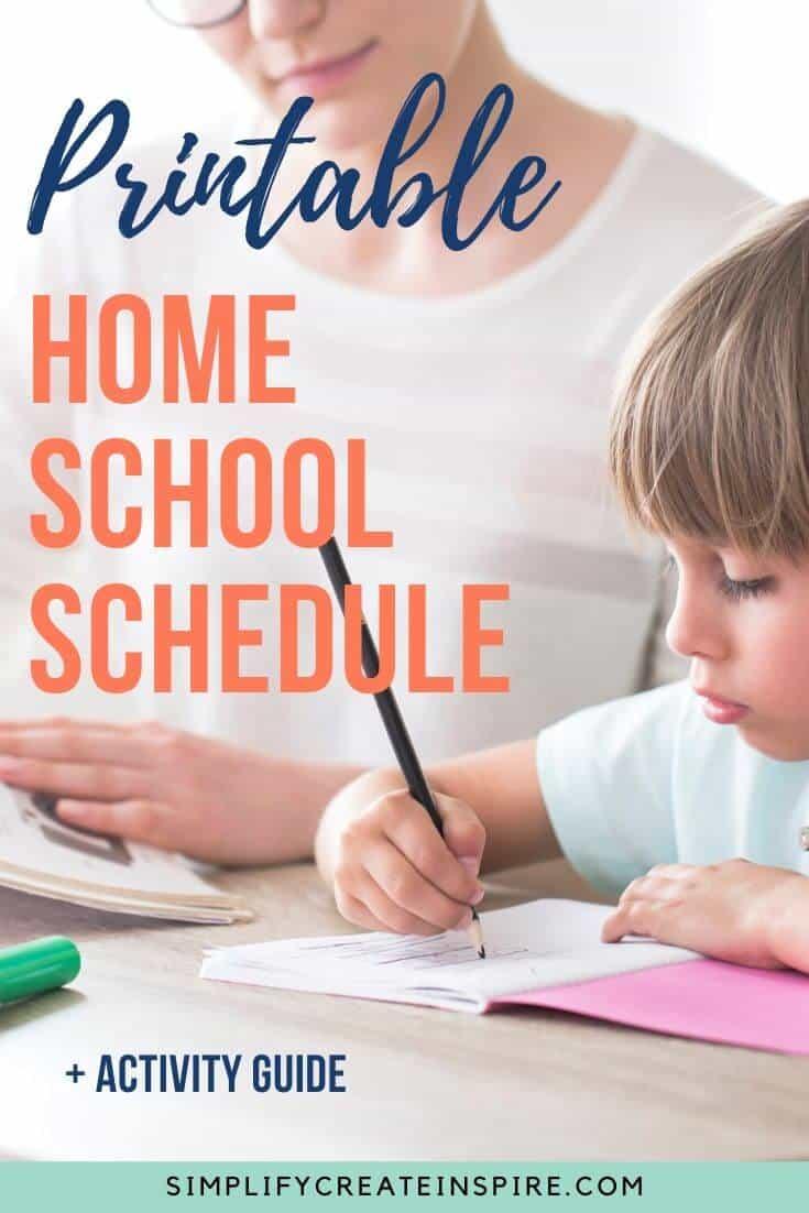 Boy home schooling