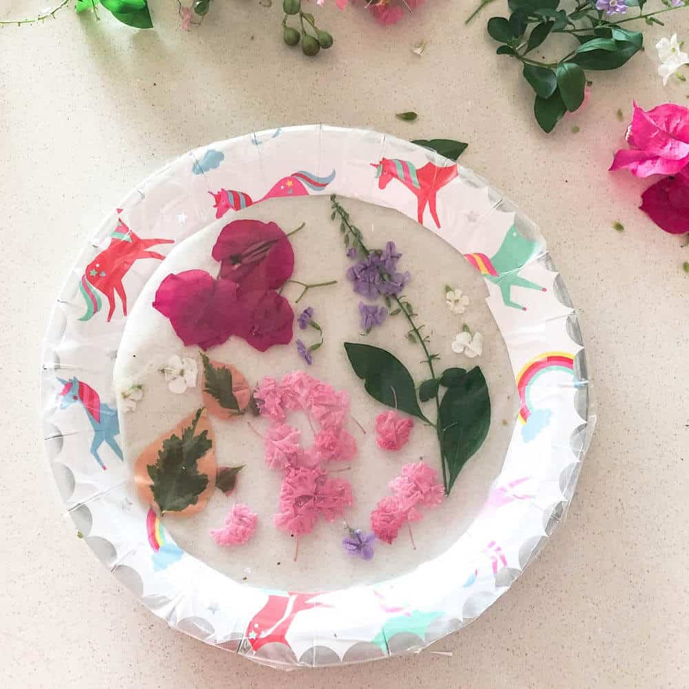 How to make DIY suncatchers with a paper plate