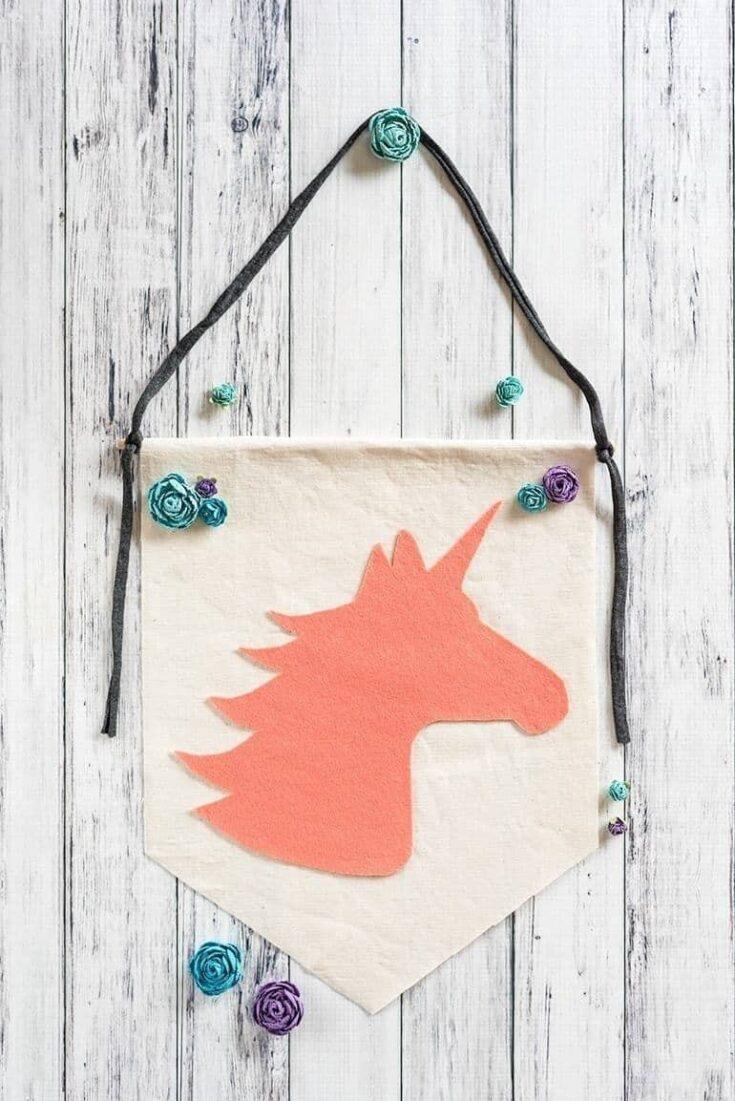 Felt unicorn banner