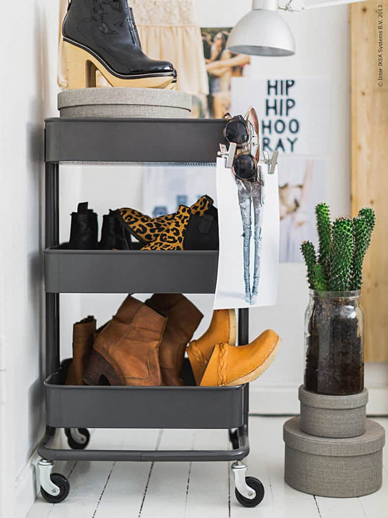 Ikea raskog closet organsation shoe rack