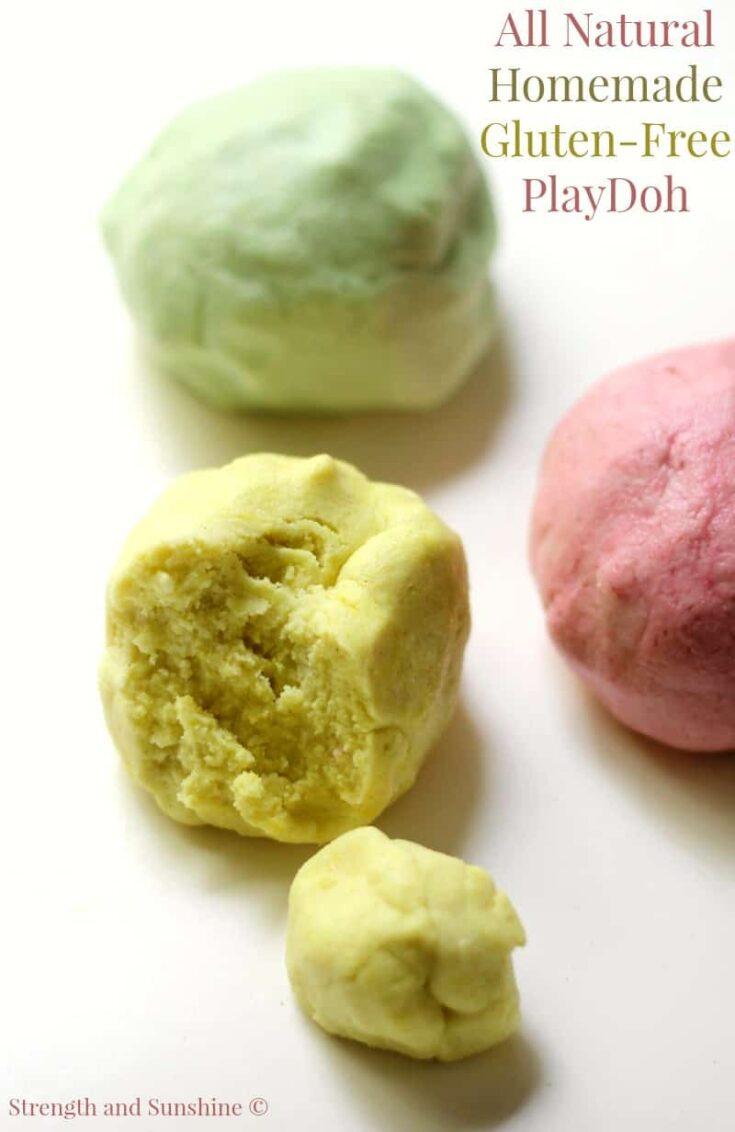 All natural homemade gluten free playdoh pm1
