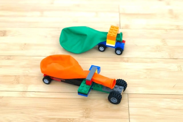 Balloon powered lego cars