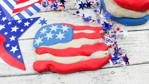 Diy no cook patriotic playdough final