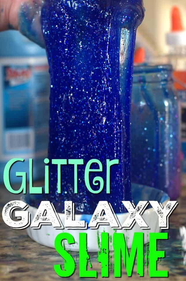 Galaxy glitter slime 2