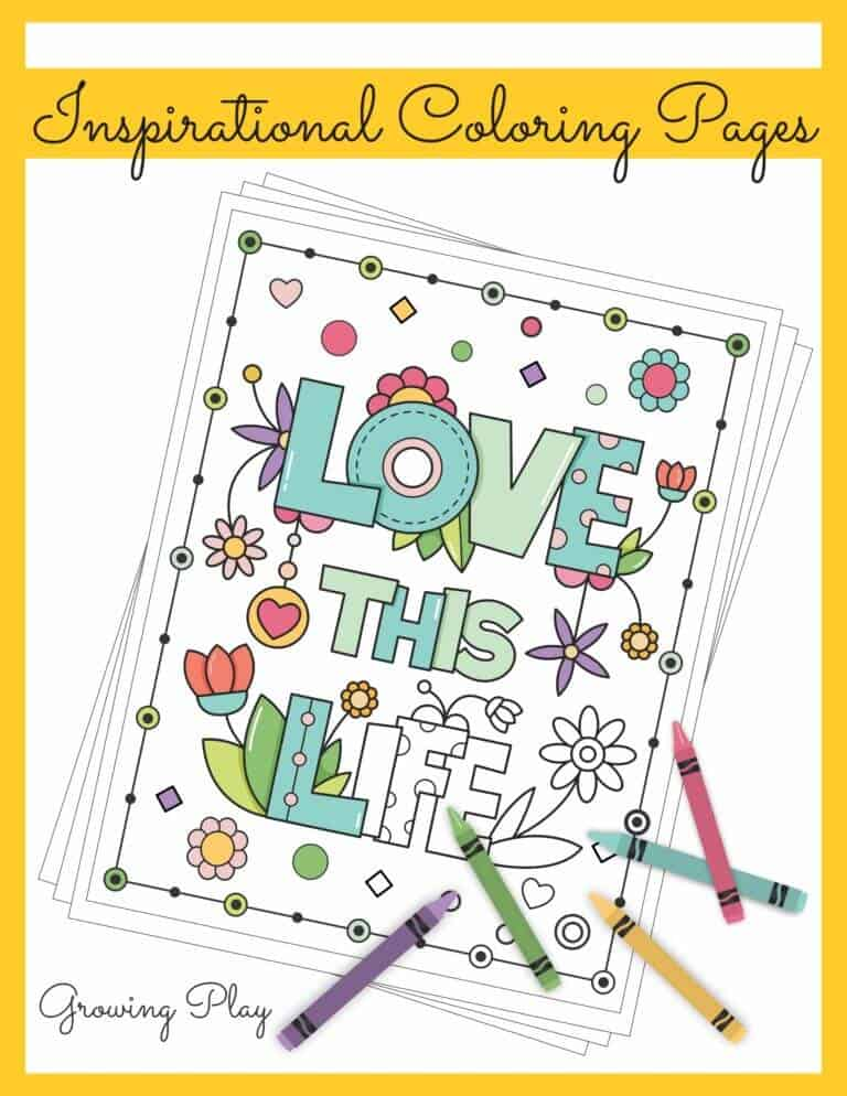 inspirational kids colouring pages