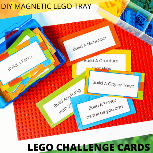 Lego tray and challenge cards