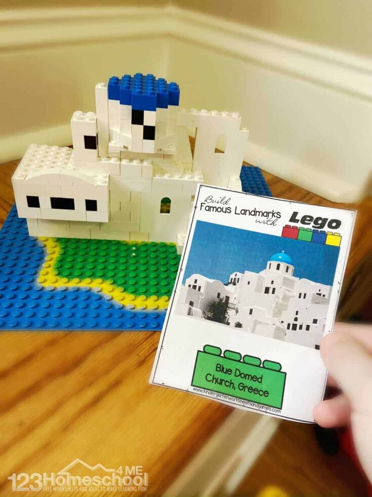 Lego building cards
