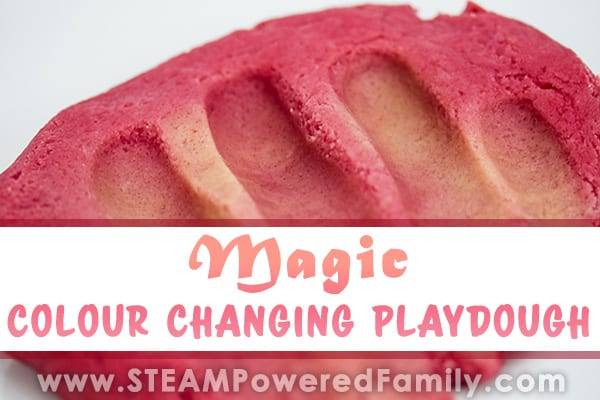 Magic color changing playdough feature