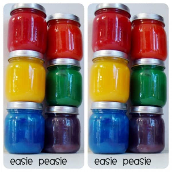 Oodles of fun with easy diy finger painting recipe adore this easy recipe that you can make at home quickly and easily. Store in baby food containers. Great upcycle to 600x600 1