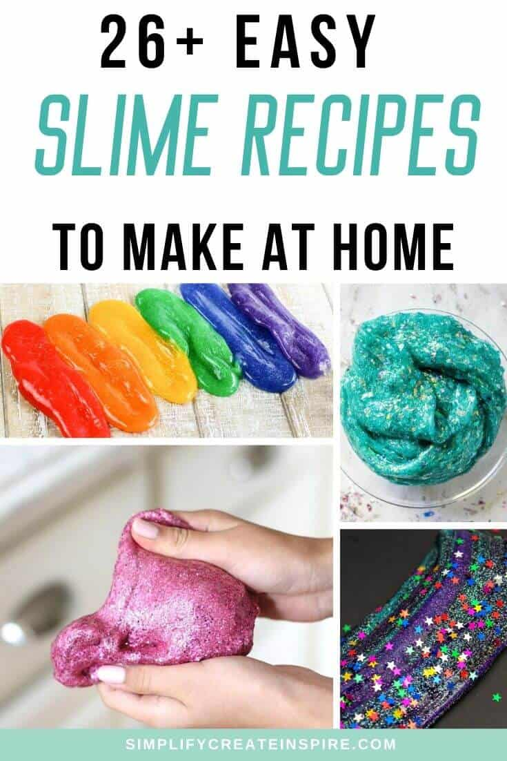 Easy homemade slime recipes for kids to make