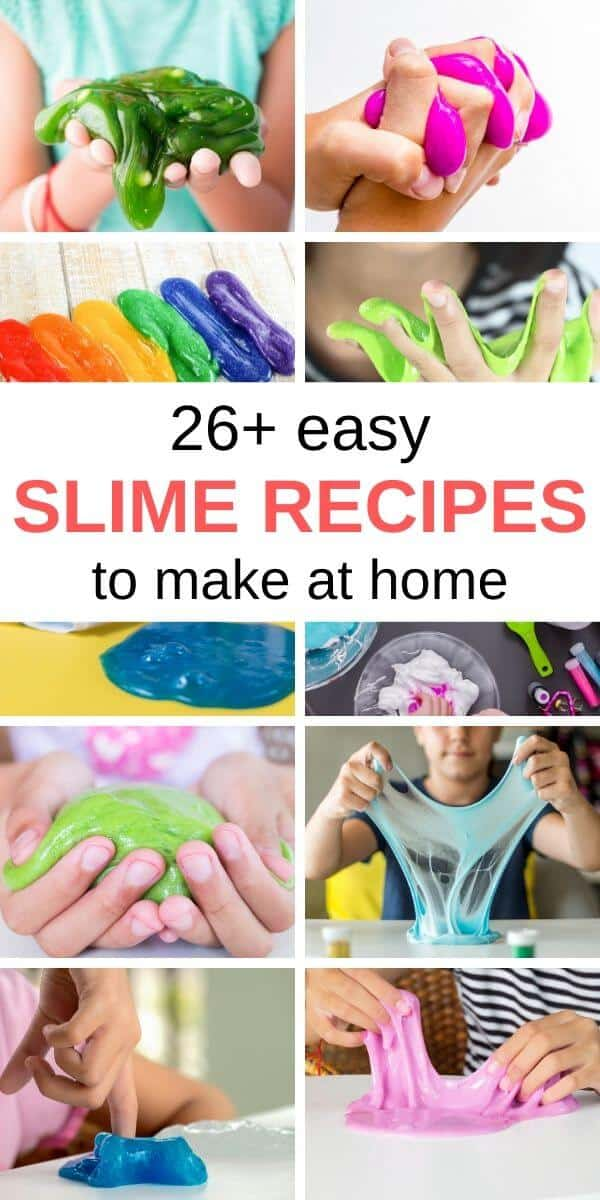 Easy slime recipes to make at home