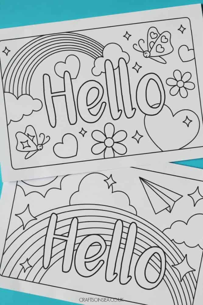 printable colouring cards
