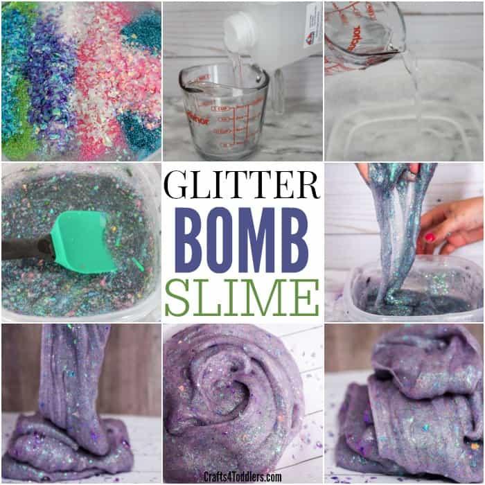 How to make glitter bomb slime