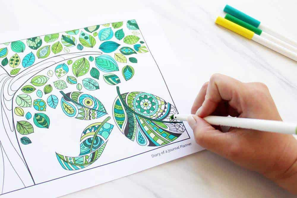 Printable Mindfulness Colouring Pages For Adults