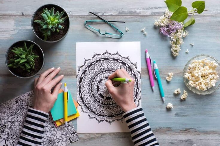 Printable mindfulness colouring pages 1