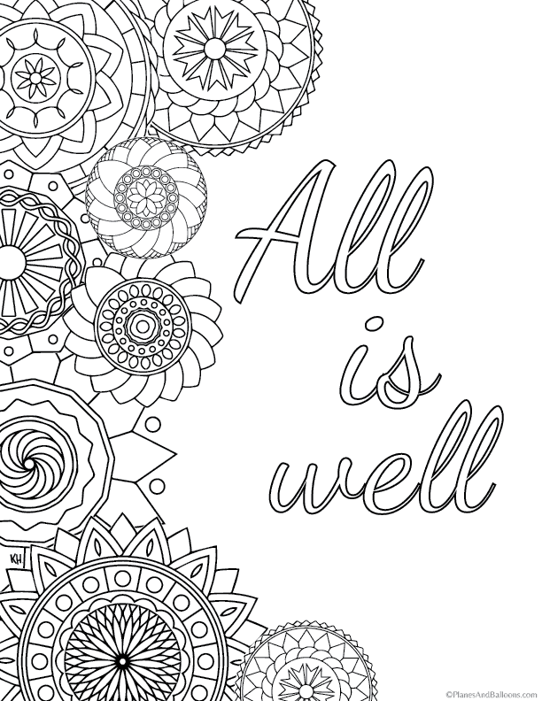 70+ Printable Mindfulness Colouring Pages For Adults ...