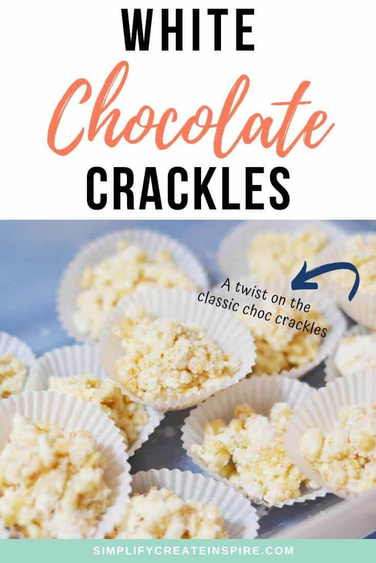 The best white chocolate crackles recipe - no copha