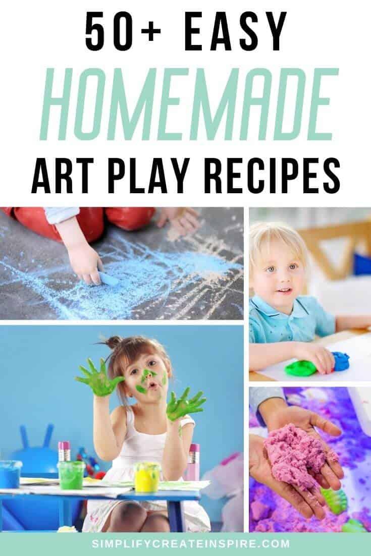 Creative play recipes for diy art fun