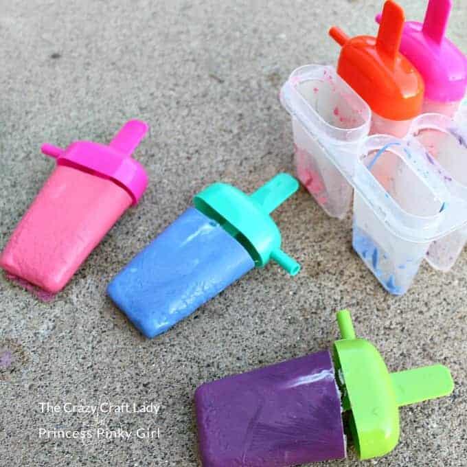 Diy popsicle chalk
