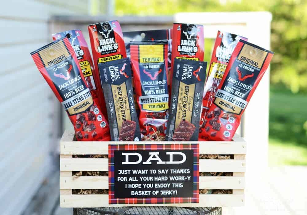 Beef jerky basket for father's day