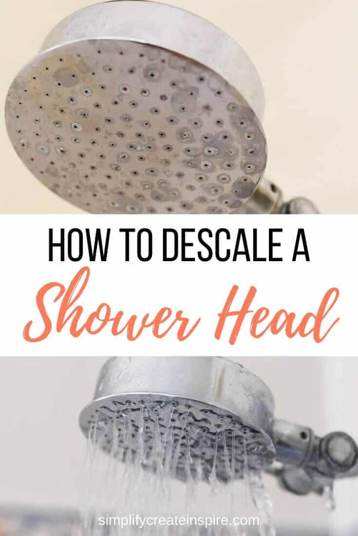 How to clean a shower head and descale