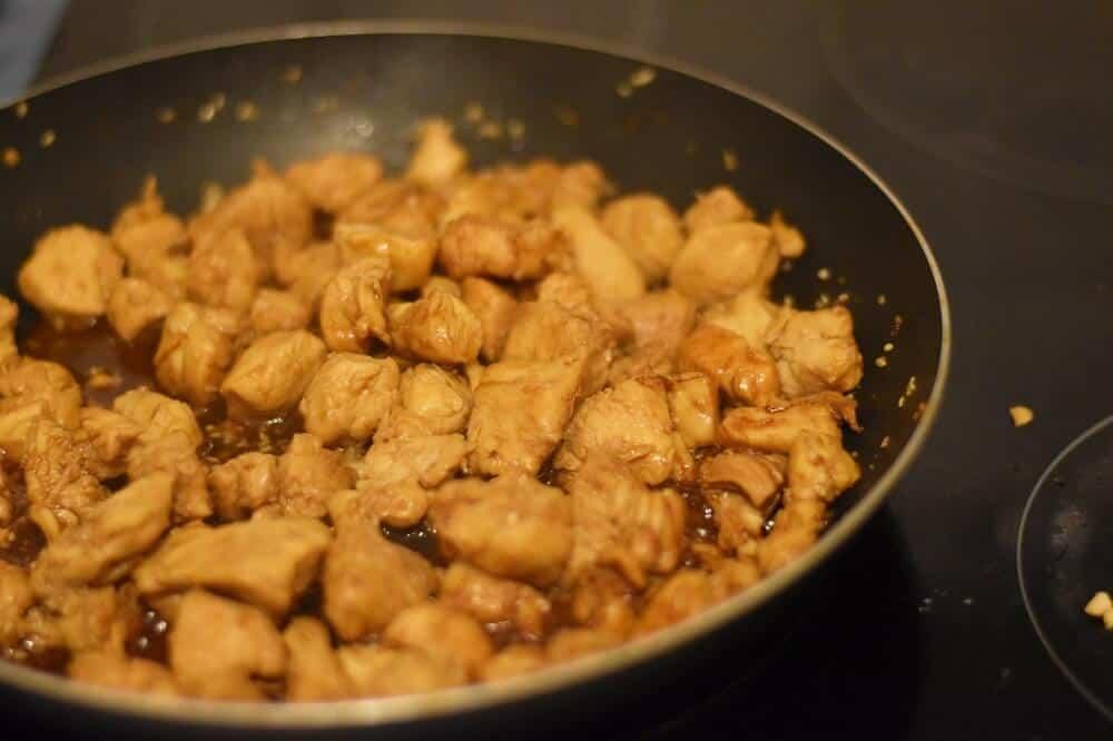 Cooking teriyaki chicken